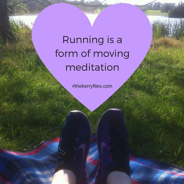 Running is a form of moving meditation